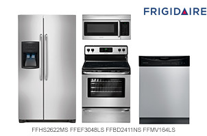 Frigidaire Stainless Steel 4-Piece Kitchen Appliance Package
