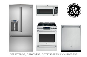GE Cafe Series 4-Piece Kitchen Appliance Package