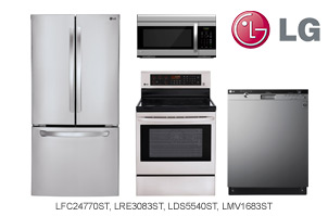 LG Stainless Steel 4-Piece Kitchen Appliance Package