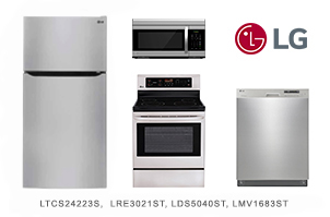 LG Value 4-Piece Stainless Steel Kitchen Appliance Package