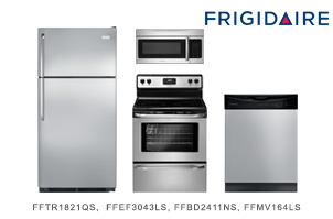 Frigidaire Stainless Steel Top-Mount Kitchen Appliance Package