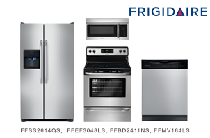 Frigidaire Stainless Steel Side by Side Kitchen Appliance Package