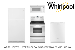 Whirlpool White Top Mount Kitchen Appliance Package