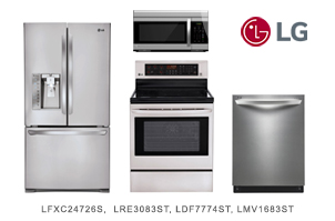 LG Stainless Steel Modern Kitchen Appliance Package